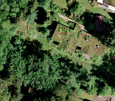 Google satellite image of green roofs at Wohldorf-Ohlstedt 02