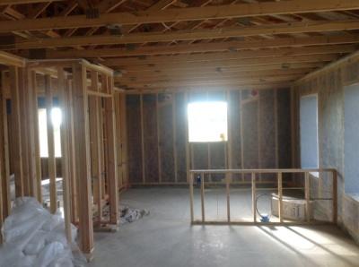 The interior of the Berthoud passive house