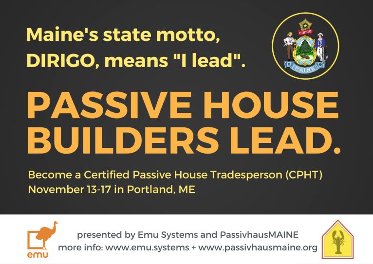 Dirigo Maine. Passive House Builders Lead